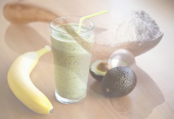 Avacado Banana Mint Smoothie