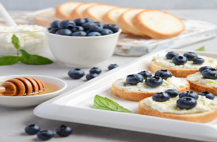 Blueberry Protein Honey English Muffins