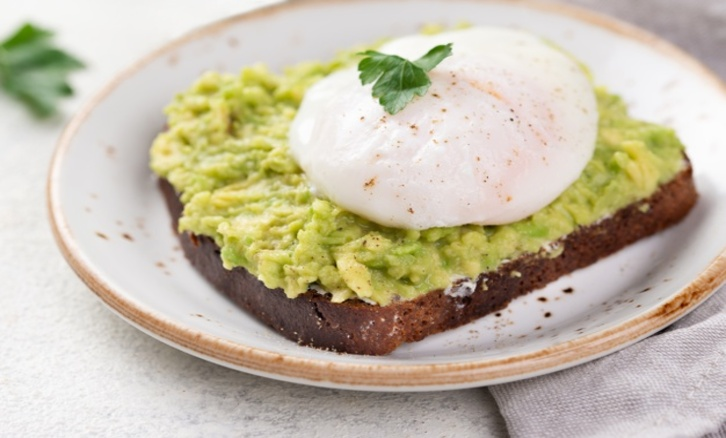 Pearl Avocado Toast With Poached Egg
