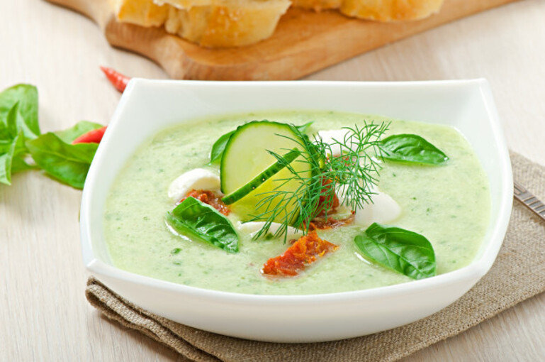 Pearl Cucumber Mozzarella Chilled Soup