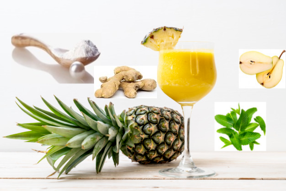 Pineapple, Ginger, Mint Juice